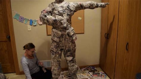 a paper mache person fashion me