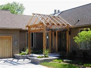 Pergola Roof Designs by 25 Best Ideas About Front Porch Pergola On Pinterest