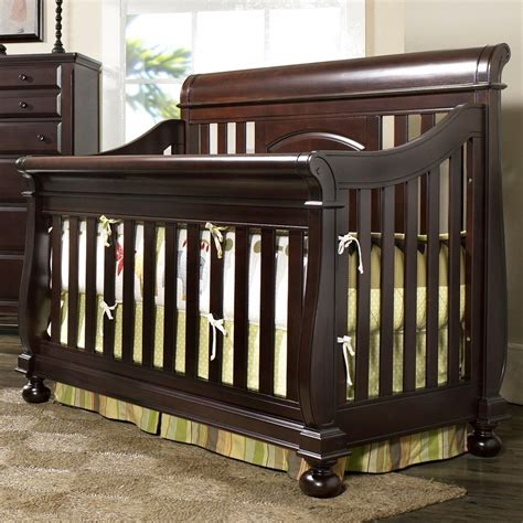 sleigh bed crib creations summer s evening convertible sleigh crib in espresso