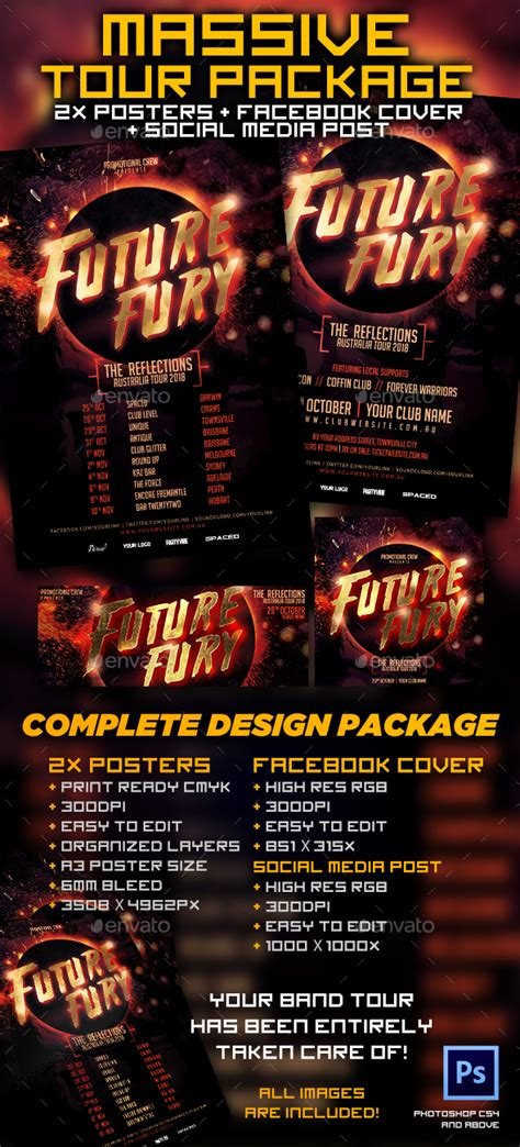 Band Tour Template Package By Creativeacres Graphicriver Band Promo Pack Template