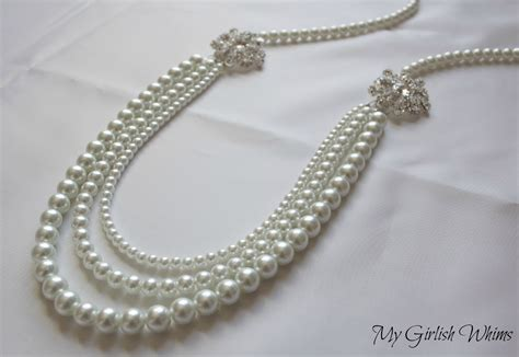 pearl diy pearl wedding necklace diy with david tutera