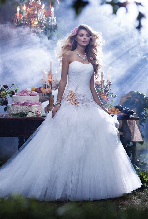 8 Weddings To Be Inspired By by Disney Sleeping Wedding Gown Disney Inspired