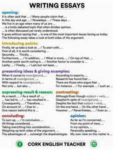 Essay Writing Terms by Writing Essays Connectors And Phrases Esl Cheap Sheets Wedding Ideas And Photo