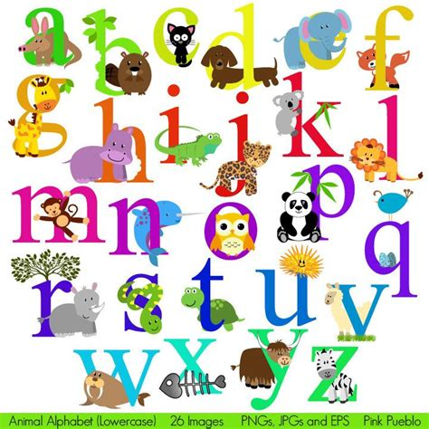 printable safari animal letters animal alphabet font with safari jungle zoo animals