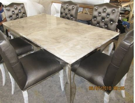 stainless steel table top metal top dining room table stainless steel dinning table with dining room set with 6