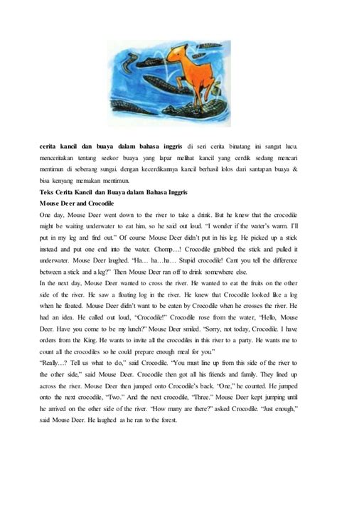 5 contoh narrative text tentang fabel contoh fabel kancil dan harimau contoh 36