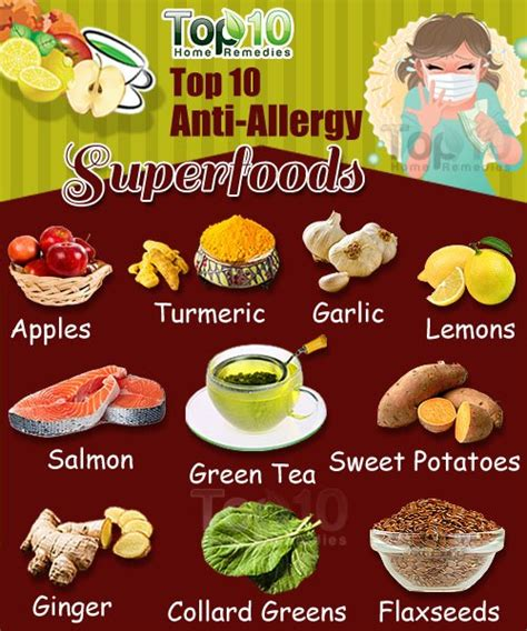 top 10 anti allergy superfoods top 10 home remedies