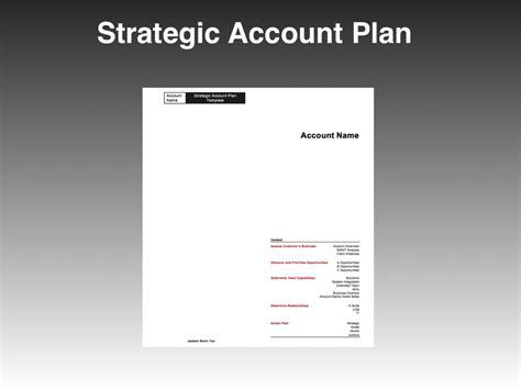 strategic account plan template four quadrant go to