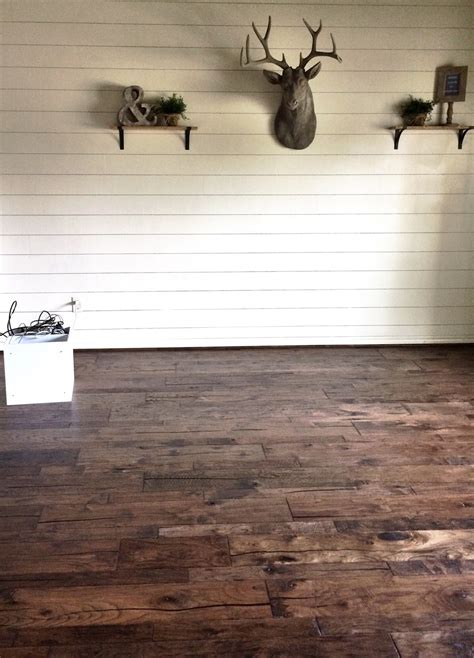 Shiplap Wood Wall Remodelaholic How To Install A Shiplap Wall Rustic