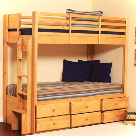 Wooden Bunk Beds With Storage Wood Bunk Beds