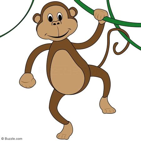 how to draw a monkey swinging on a vine cartoon monkey hanging from tree cliparts co