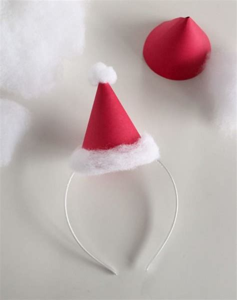 How To Make A Paper Headband - santa hat hats and minis on