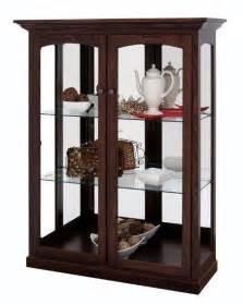 Amish Curio Cabinets For Sale Amish Two Door Curio Cabinet