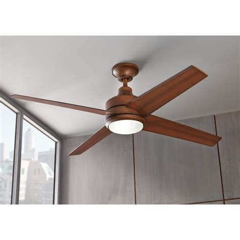 mercer 52 ceiling fan home decorator s collection mercer 52 in led indoor