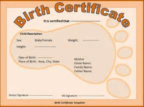 novelty birth certificate template sle birth certificate 11 free documents in word pdf