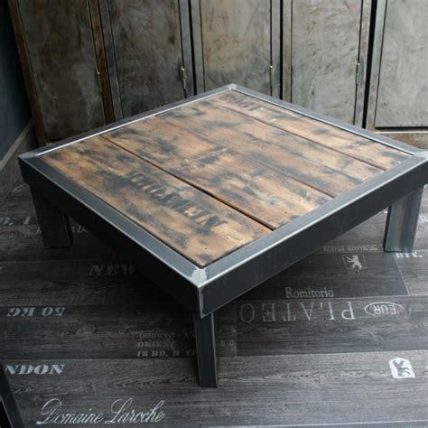 Table Basse Bois Metal 760 by Table Basse Pied Acier Nu76 Jornalagora