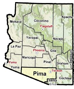 county map of arizona with cities my