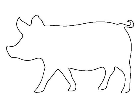 printable animal outlines pig pattern use the printable outline for crafts