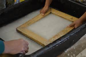 Handmade Paper Manufacturing Process - paper lesson one lab school