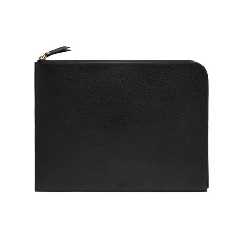 Mulberry Pouch lyst mulberry document pouch in black for