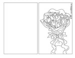 cards to color tulip bouquet coloring pages hellokids
