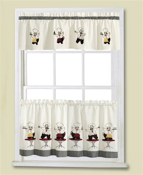 Chef Kitchen Curtains Cheers Chef Kitchen Curtain Linens4less