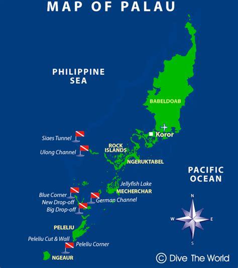 map of palau micronesia koror and peleliu dive the world