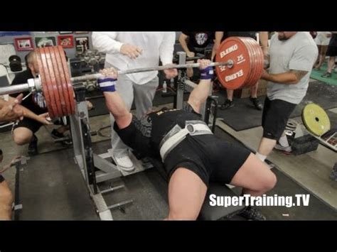 bench press record video eric spoto 722 lbs 327 5 kg world record raw bench press official video