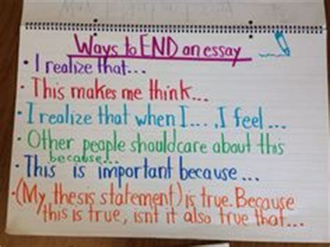 Ways To End A Essay by Anchor Chart And Printables For Teaching Students How To Write An Improved Personal Narrative
