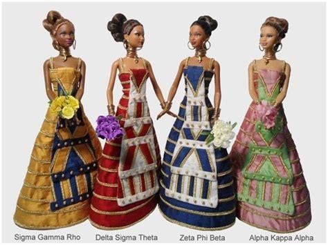 black doll organization nphc sorority dolls divinenine black barbies eastern