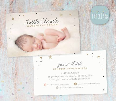 Newborn Baby Card Template by 31 Photography Business Card Templates Free Premium
