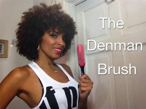 The Denman Brush Review   How to Detangle Natural Curly ... Denman Hair
