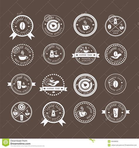 design elements of a coffee shop set of vintage style elements of coffee shop stock vector
