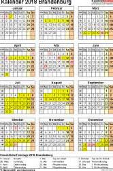 Kalender 2018 Feiertage Und Ferien Brandenburg Kalender 2018 Brandenburg Ferien Feiertage Pdf Vorlagen
