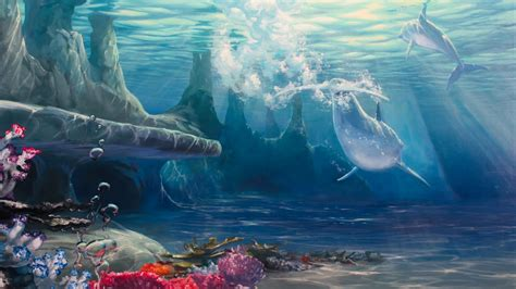 Christmas Scene Wall Murals how to paint under water scenes youtube
