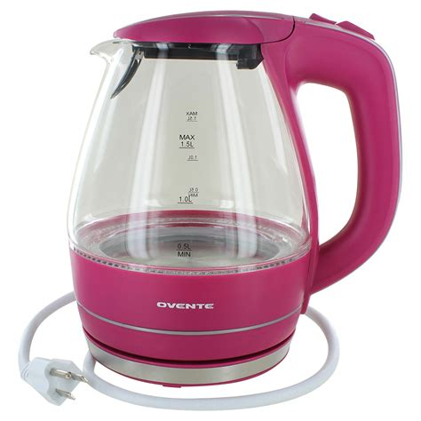 High Tea Kitchen Tea Ideas ovente electric glass kettle 1 5 liters pink