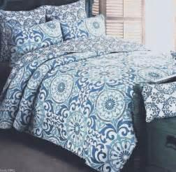 cynthia rowley king quilt 3 pc set shams multi blue white