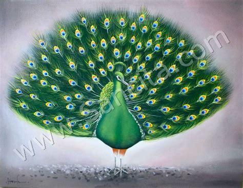br  lukisan burung merak sancita