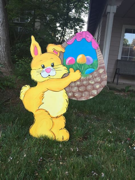 easter yard art easter yard decor easter bunny outdoor