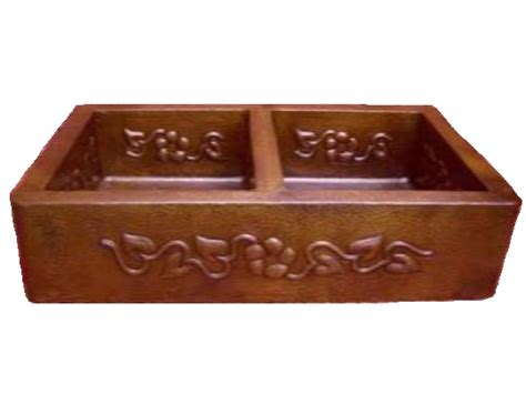 Copper Kitchen Sinks For Sale by 33 Inch Copper Apron Farmhouse Sink With Floral Design