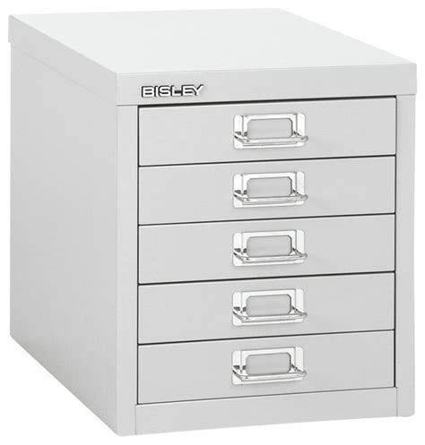 Multi Drawer Filing Cabinet Bisley 5 Drawer Desktop Multi Drawer Cabinet In Light Gray Steel Traditional Filing Cabinets
