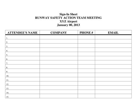 construction sign in sheet template printable sign in sheet in word and pdf formats