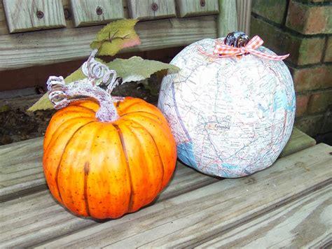 Decoupage Pumpkin - live scrap decoupaged pumpkins