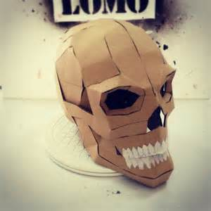 cardboard mask template dali lomo express diy cardboard skull display