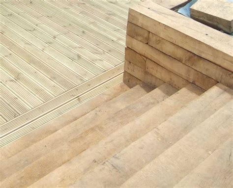 Railway Sleepers Decking by Nigel And Julie Sussex S Decking Project With Railway
