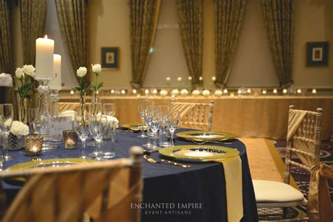 gold event themes navy and gold wedding theme styled by enchanted empire