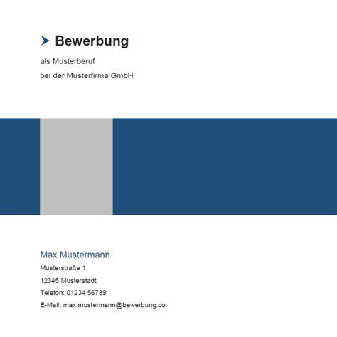 Muster Bewerbung Deckblatt Design Muster 14 Bewerbung Co