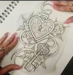 heart locket with key tattoo tattoo ideas pinterest