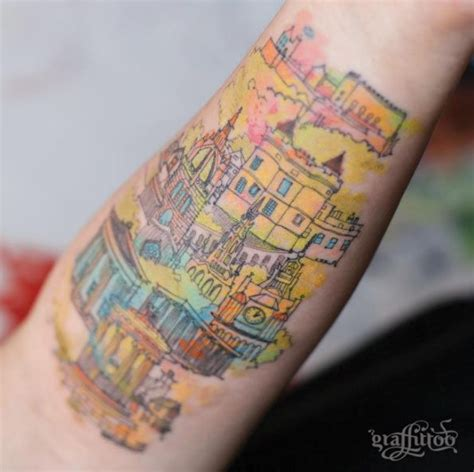 watercolor tattoo amsterdam 21 awesome architecturally inspired designs
