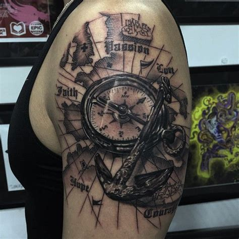 tattoo helm compass 33 best compass and anchor tattoo images on pinterest